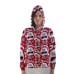 Another Monster Pattern Hooded Wind Breaker (Women)