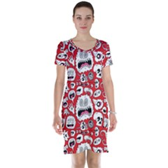 Another Monster Pattern Short Sleeve Nightdress