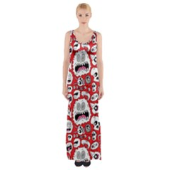 Another Monster Pattern Maxi Thigh Split Dress