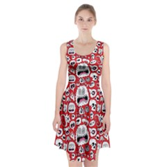 Another Monster Pattern Racerback Midi Dress