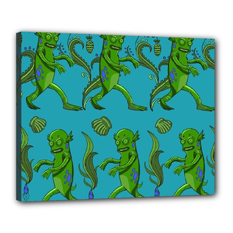 Swamp Monster Pattern Canvas 20  X 16