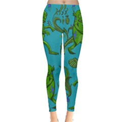 Swamp Monster Pattern Leggings