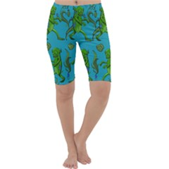 Swamp Monster Pattern Cropped Leggings