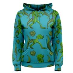 Swamp Monster Pattern Women s Pullover Hoodie