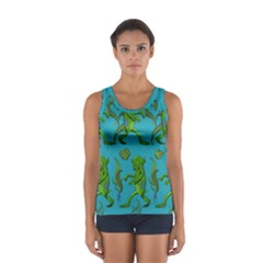 Swamp Monster Pattern Women s Sport Tank Top