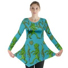 Swamp Monster Pattern Long Sleeve Tunic