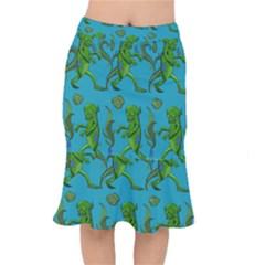 Swamp Monster Pattern Mermaid Skirt