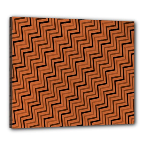 Brown Zig Zag Background Canvas 24  X 20