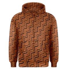 Brown Zig Zag Background Men s Zipper Hoodie