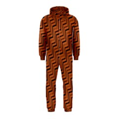 Brown Zig Zag Background Hooded Jumpsuit (Kids)