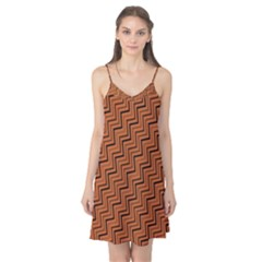 Brown Zig Zag Background Camis Nightgown