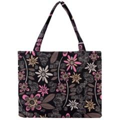 Flower Art Pattern Mini Tote Bag