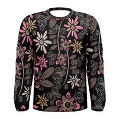 Flower Art Pattern Men s Long Sleeve Tee