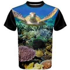 Coral Reef Turtke Men s Cotton Tee