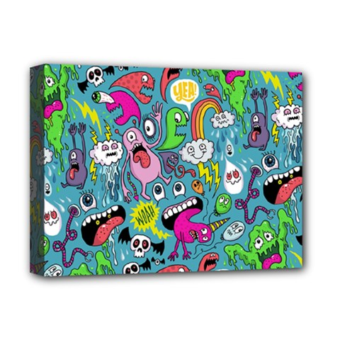 Monster Party Pattern Deluxe Canvas 16  X 12