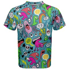 Monster Party Pattern Men s Cotton Tee