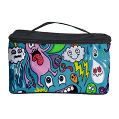 Monster Party Pattern Cosmetic Storage Case