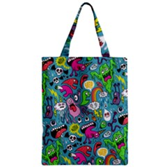 Monster Party Pattern Zipper Classic Tote Bag