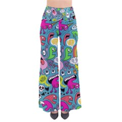Monster Party Pattern Pants