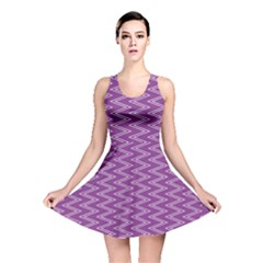 Zig Zag Background Purple Reversible Skater Dress