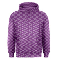Zig Zag Background Purple Men s Pullover Hoodie