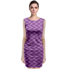Zig Zag Background Purple Classic Sleeveless Midi Dress