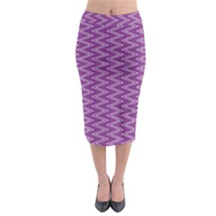 Zig Zag Background Purple Midi Pencil Skirt