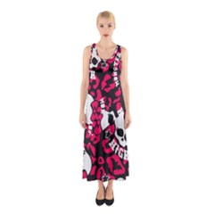 Mattel Monster Pattern Sleeveless Maxi Dress