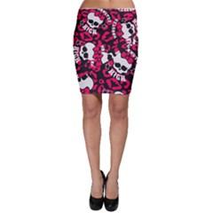 Mattel Monster Pattern Bodycon Skirt