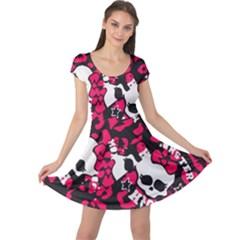 Mattel Monster Pattern Cap Sleeve Dresses