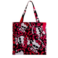 Mattel Monster Pattern Zipper Grocery Tote Bag