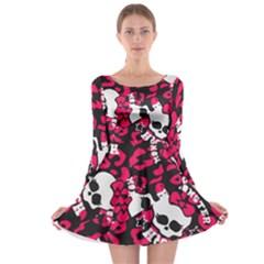 Mattel Monster Pattern Long Sleeve Skater Dress