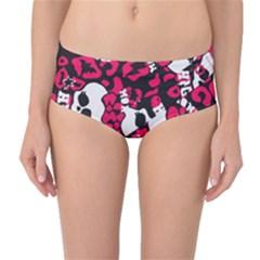 Mattel Monster Pattern Mid-Waist Bikini Bottoms