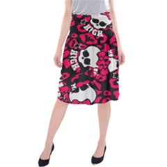 Mattel Monster Pattern Midi Beach Skirt