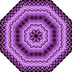 Purple Pink Zig Zag Pattern Folding Umbrellas