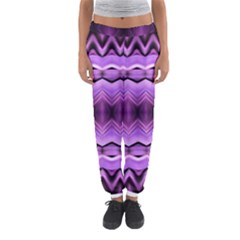 Purple Pink Zig Zag Pattern Women s Jogger Sweatpants