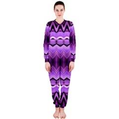 Purple Pink Zig Zag Pattern Onepiece Jumpsuit (ladies)