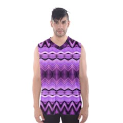 Purple Pink Zig Zag Pattern Men s Basketball Tank Top