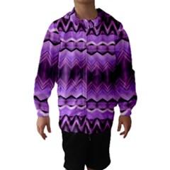 Purple Pink Zig Zag Pattern Hooded Wind Breaker (kids)