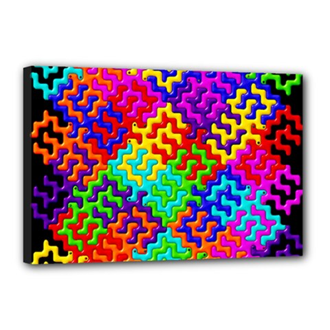3d Fsm Tessellation Pattern Canvas 18  x 12
