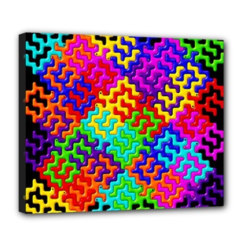 3d Fsm Tessellation Pattern Deluxe Canvas 24  X 20