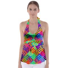3d Fsm Tessellation Pattern Babydoll Tankini Top