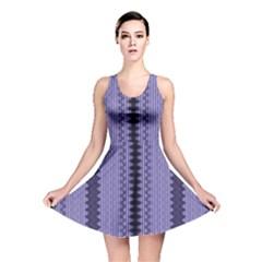 Zig Zag Repeat Pattern Reversible Skater Dress