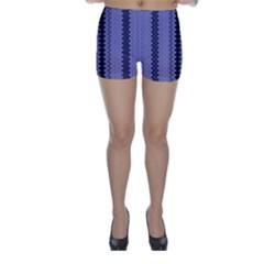 Zig Zag Repeat Pattern Skinny Shorts