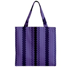 Zig Zag Repeat Pattern Zipper Grocery Tote Bag