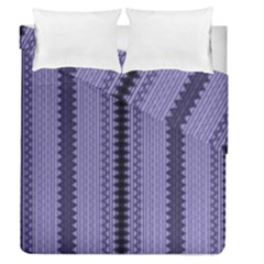 Zig Zag Repeat Pattern Duvet Cover Double Side (queen Size)
