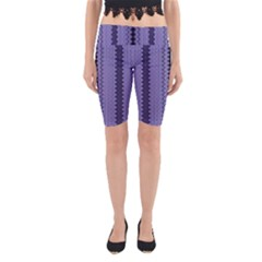Zig Zag Repeat Pattern Yoga Cropped Leggings