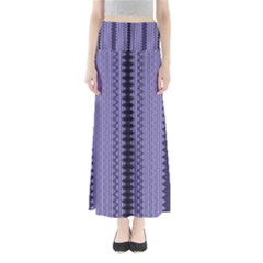 Zig Zag Repeat Pattern Full Length Maxi Skirt