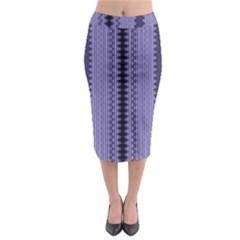 Zig Zag Repeat Pattern Midi Pencil Skirt