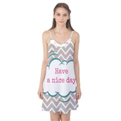 Have A Nice Day Camis Nightgown